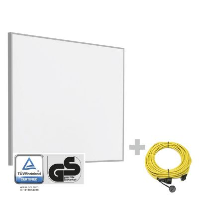 Panel calefactor infrarrojo TIH 300 S + Cable alargador profesional de 20 m / 230 V / 2,5 mm²