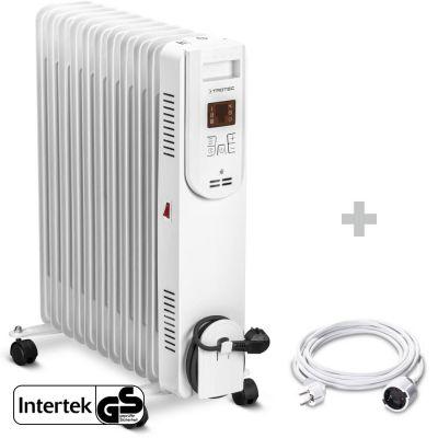 Radiador de aceite TRH 26 E + Cable alargador de PVC 5 m / 230 V / 1,5 mm²