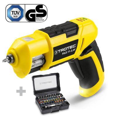 Taladro atornillador de batería PSCS 11-3,6V + Juego de 32 puntas