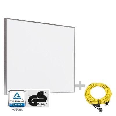 Panel calefactor infrarrojo TIH 500 S + Cable alargador profesional de 20 m / 230 V / 2,5 mm²