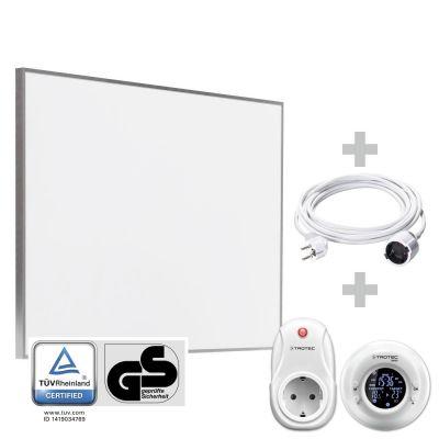 Panel calefactor infrarrojo TIH 500 S + Cronotermostato inalámbrico BN35 + Cable alargador de PVC 5 m / 230 V / 1,5 mm²