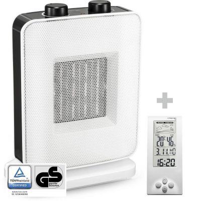 Soplador calefactor de cerámica TFC 15 E + Termohigrómetro Estación Meteorológica BZ06