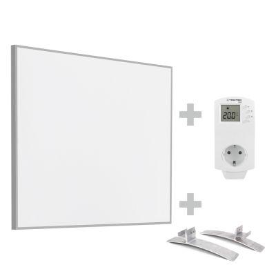 Panel calefactor infrarrojo TIH 300 S + enchufe-termostato BN 30 y pie de soporte
