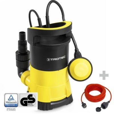 Bomba sumergible para aguas claras TWP 4005 E + Cable alargado de calidad 15 m / 230 V / 1,5 mm²