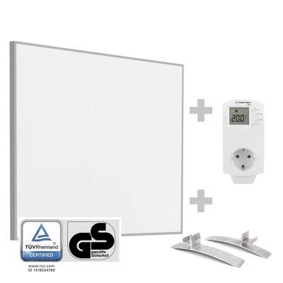 Panel calefactor infrarrojo TIH 400 S + enchufe termostato BN 30 y pie de soporte