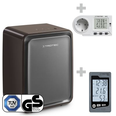Deshumidificador TTK 24 E BS + Termohigrómetro BZ05 + Medidor de consumo energético BX11