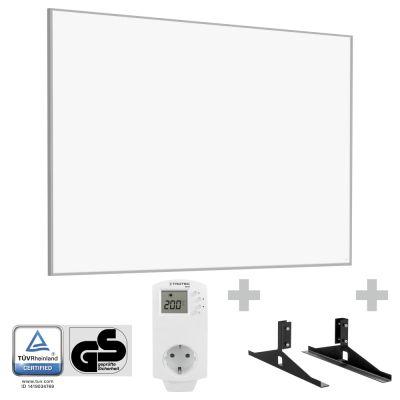 Panel calefactor infrarrojo TIH 1100 S + Enchufe-termostato BN 30 y pie de soporte