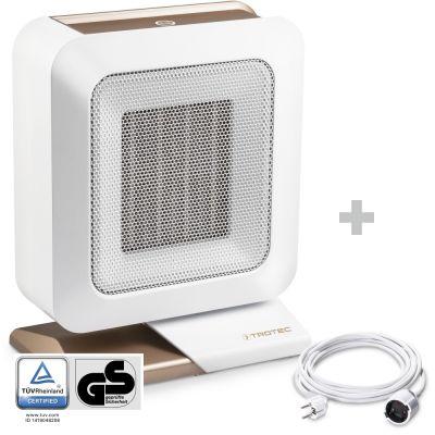 Soplador calefactor de cerámica TFC 14 E + Cable alargador de PVC 5 m / 230 V / 1,5 mm²