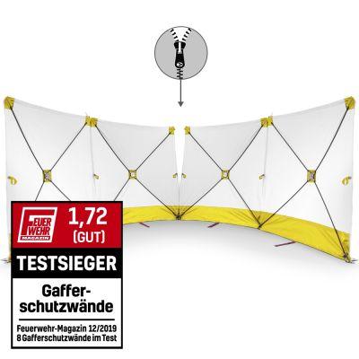 Mampara protectora de accidente VarioScreen 4*180*180 divisible amarilla