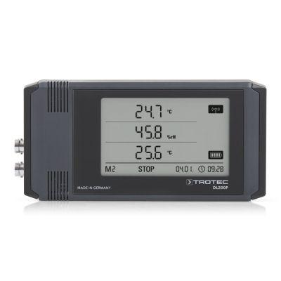 Registrador de datos climáticos ampliable con sensores externos DL200P color gris antracita