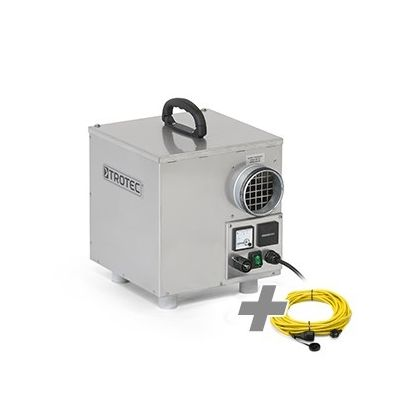 Deshumidificador por adsorción  TTR 160 + cable de extensión profesional  20 m / 230 V / 2,5 mm²