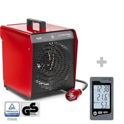 Soplador calefactor eléctrico TDS 50 E + Termohigrómetro para interiores BZ05