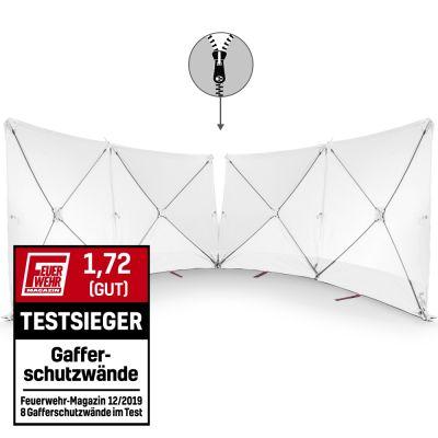 Mampara protectora de accidente - VarioScreen 4*180*180 divisible blanca