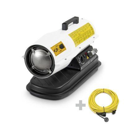 Soplador calefactor de fueloil IDE 20 D + Cable alargador profesional de 20 m / 230 V / 2,5 mm²