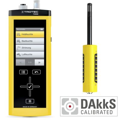Medidor multifuncional T3000 + TS 210 SDI sensor climático + Calibración DAkkS D.2102