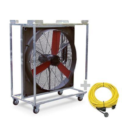 Ventilador industrial TTW 20000 + Cable de extensión profesional 20 m / 230 V / 2,5 mm²
