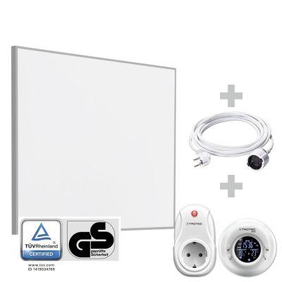 Panel calefactor infrarrojo TIH 300 S + Cronotermostato inalámbrico BN35 + Cable alargador de PVC 5 m / 230 V / 1,5 mm²
