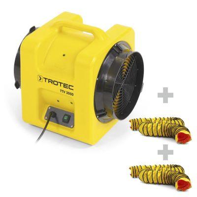 Ventilador portátil TTV 3000 + 2x SP-T Manguera 305 mm