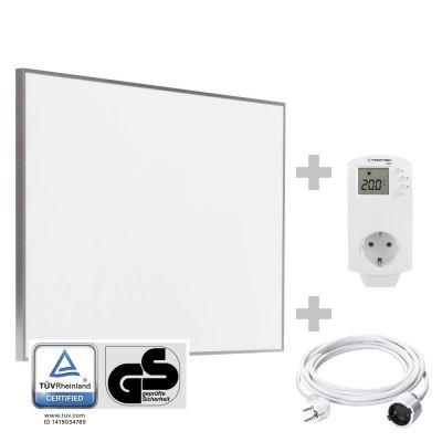 Panel calefactor infrarrojo TIH 500 S + Cable alargador de PVC 5 m / 230 V / 1,5 mm² + BN30