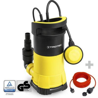 Bomba sumergible para aguas claras TWP 7505 E + Cable alargador Calidad 15 m  230 V  1,5 mm²