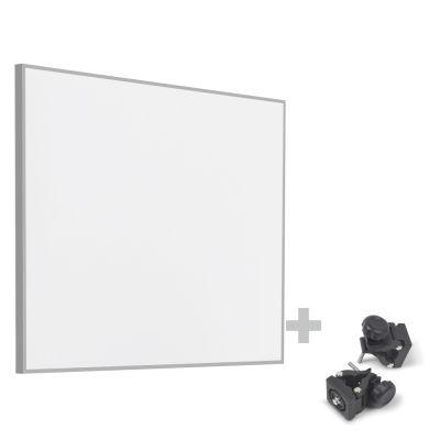 Panel calefactor infrarrojo TIH 400 S + Pinzas de sujeción de montaje