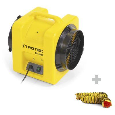 Ventilador portátil TTV 3000 + Manguera SP-C 305 mm / 7,6 m