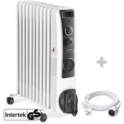 Radiador de aceite TRH 23 E + Cable alargador de PVC 5 m / 230 V / 1,5 mm²