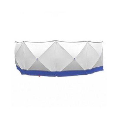 Mampara protectora 4*180*180 blanco y azul