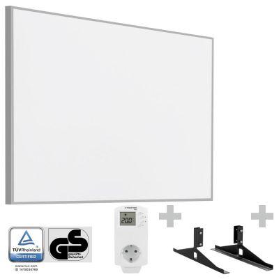 Panel calefactor infrarrojo TIH 900 S + Enchufe-termostato BN 30 y pie de soporte