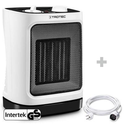 Soplador calefactor de cerámica TFC 17 E + Cable alargador de PVC 5 m / 230 V / 1,5 mm²