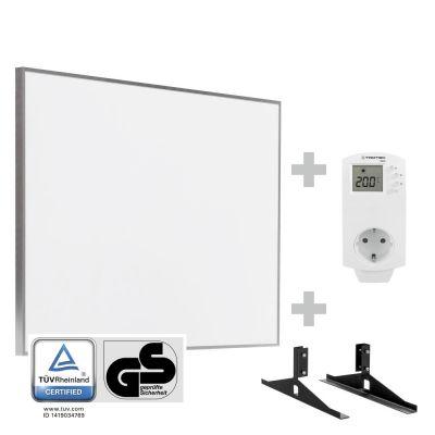 Panel calefactor infrarrojo TIH 500 S + Enchufe-termostato BN 30 y pie de soporte