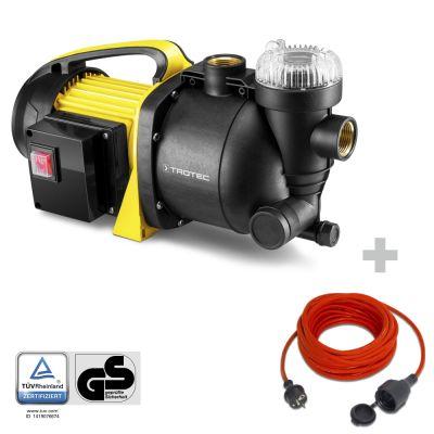 Bomba de jardín con filtro TGP 1005 E + Cable alargado de calidad 15 m