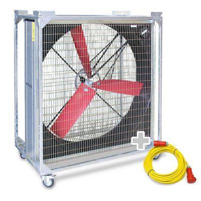 Ventilador industrial TTW 45000 + Cable de extensión profesional 20 m / 400 V / 2,5 mm²