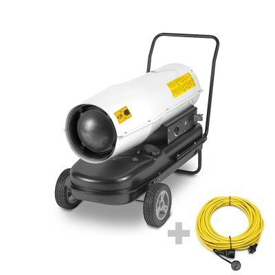Calefactor de gasoil directo IDE 60 D + Cable de extensión profesional de 20 m / 230 V / 2,5 mm²