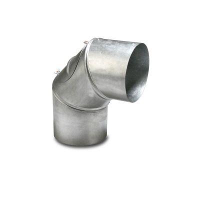 Codo para tubo de salida de gases 90° 120 mm