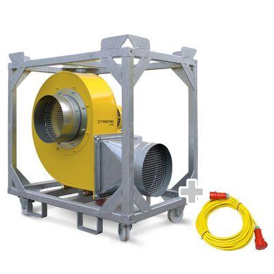 Ventilador radial TFV 100 + Cable de extensión profesional 20 m / 400 V / 2,5 mm²