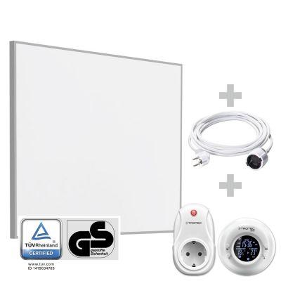 Panel calefactor infrarrojo TIH 400 S + Cronotermostato inalámbrico BN35 + Cable alargador de PVC 5 m / 230 V / 1,5 mm²