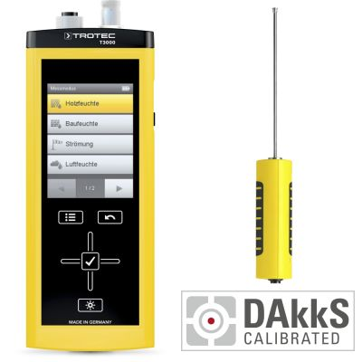 Medidor multifuncional T3000 + TS 131/150 SDI sensor de temperatura - Calibración DAkkS D.2102