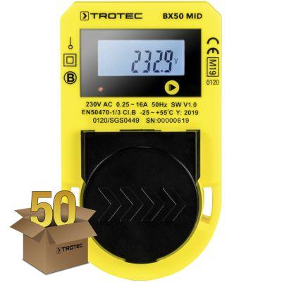 Medidor de consumo energético BX50 MID , paquete de 50