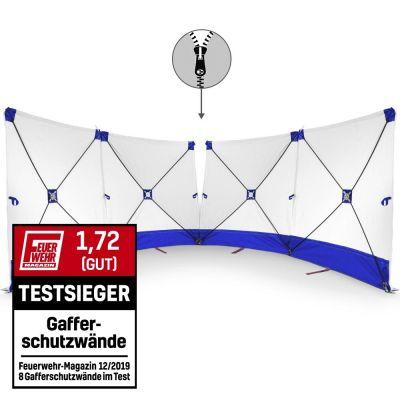 Mampara protectora de accidente - VarioScreen 4*180*180 divisible azul