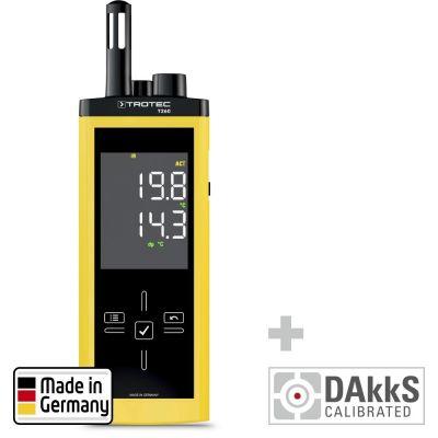 Termohigrómetro infrarrojo T260 - Calibración DAkkS D.2102