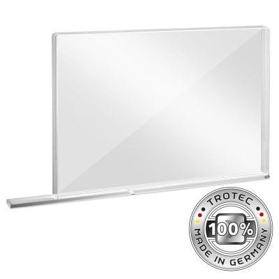 Pared protectora escolar de vidrio acrílico con borde protector de aerosol MEDIUM 1007 x 69 x 688