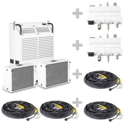 Aire acondicionado industrial PortaTemp PT 15000 S + Paso de conexión PlanoPT