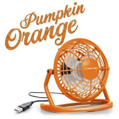 Ventilador color naranja Pumpkin Orange USB TVE 1O