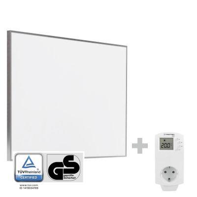 Panel calefactor infrarrojo TIH 500 S + Enchufe-Termostato BN30