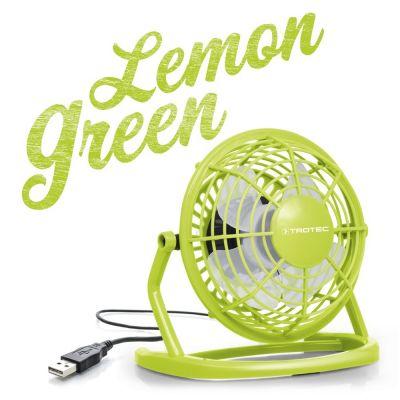 Ventilador color verde Lemon Green USB TVE 1L
