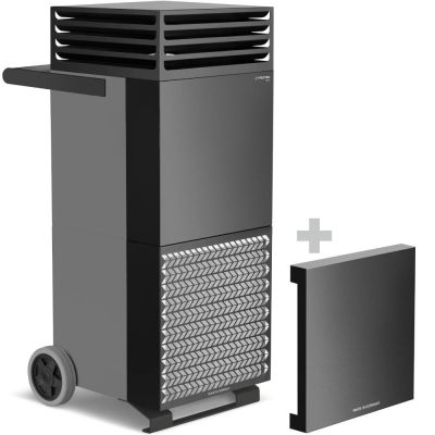 Limpiador de aire de la habitación TAC M en gris basalto/negro + campana de aislamiento acústico