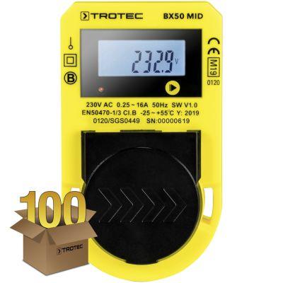 Medidor de consumo energético BX50 MID , paquete de 100