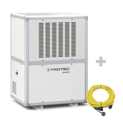 Deshumidificador industrial DH 95 S + cable de extensión profesional 20 m / 230 V / 2,5 mm ²