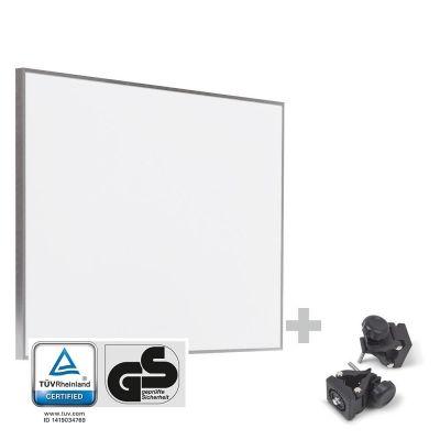Panel calefactor infrarrojo TIH 500 S + Pinzas de sujeción de montaje